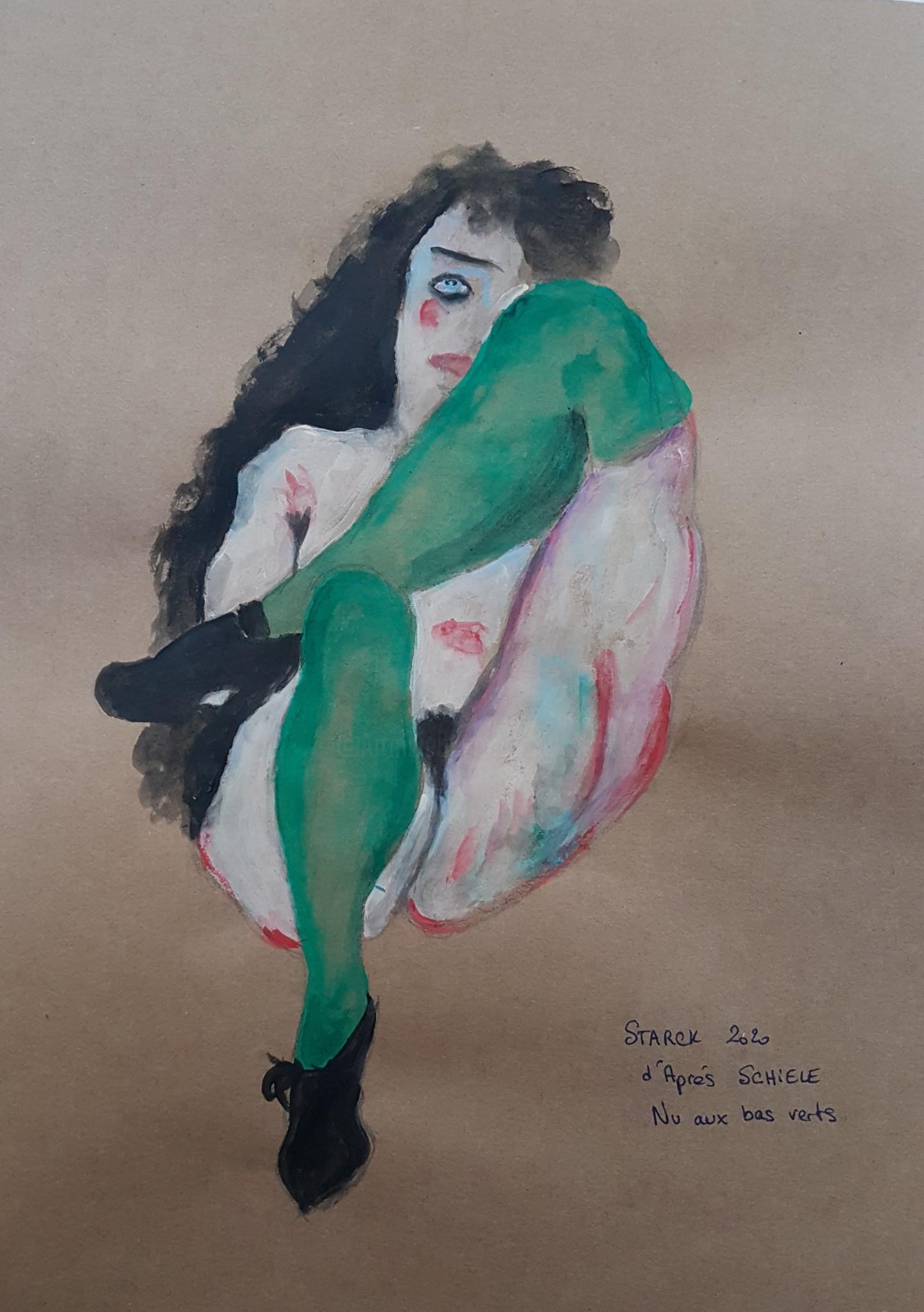 Emily Starck - Étude Schiele #artistsupportpledge