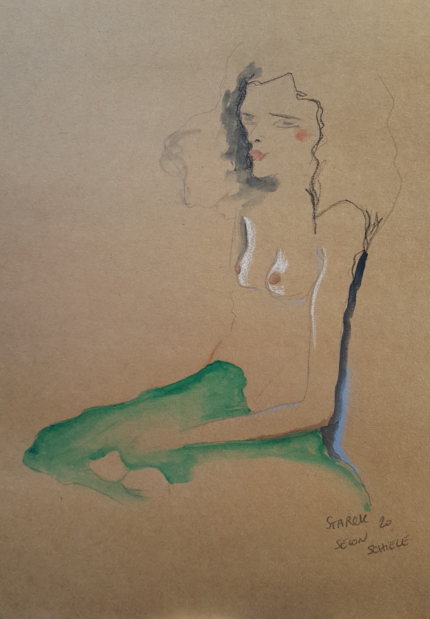 Emily Starck - Étude Schiele 4 #artistsupportpledge