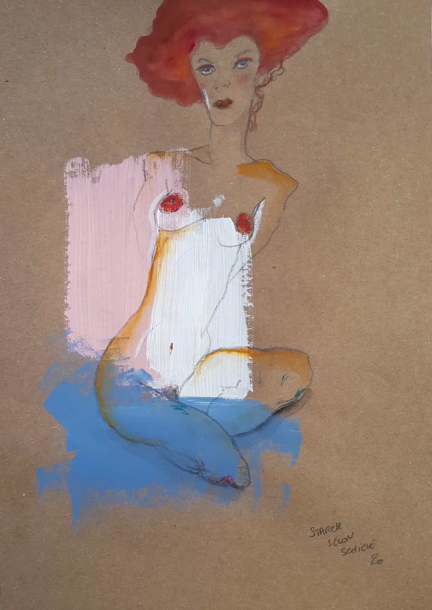Emily Starck - Étude Schiele 5 #artistsupportpledge