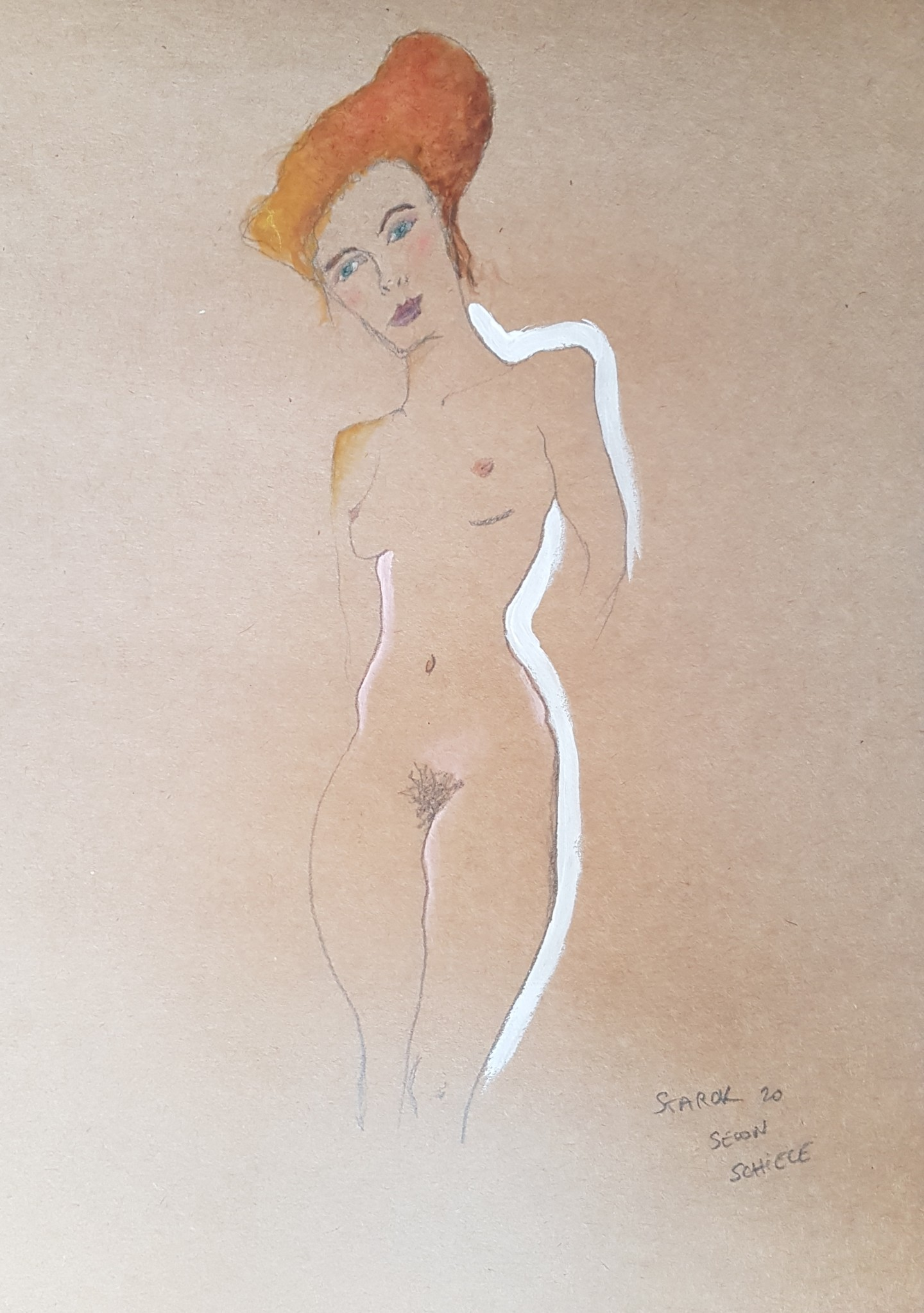 Emily Starck - Étude Schiele 6 #artistsupportpledge