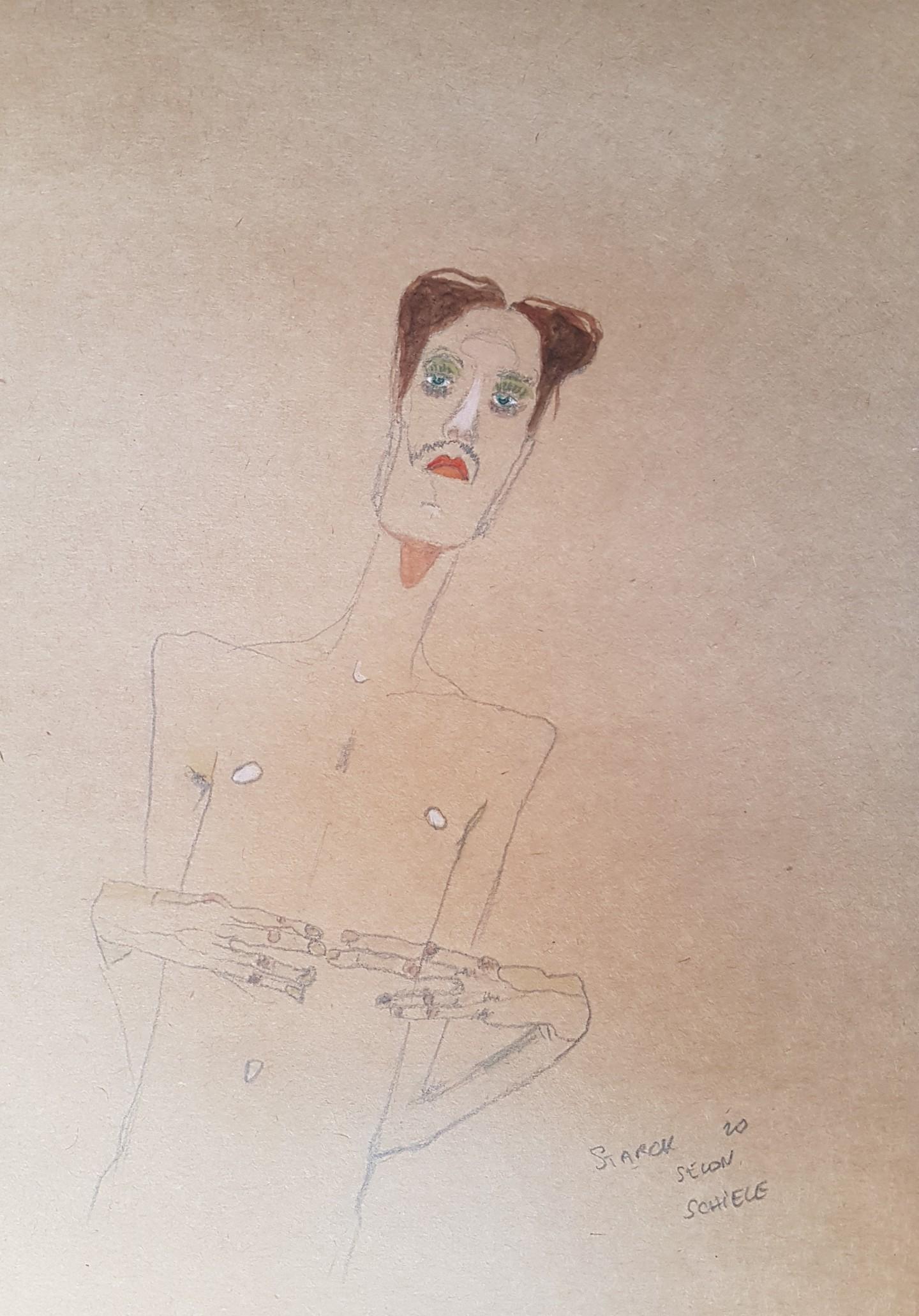 Emily Starck - Étude Schiele 7 #artistsupportpledge