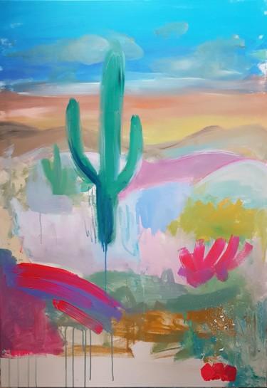 Paysage abstrait au cactus